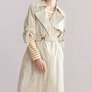 NWT Donna Karan Long Trench, Belted Raincoat (M)